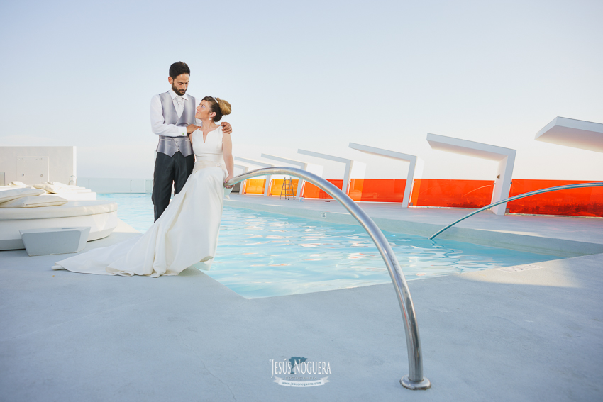 boda Reserva del Higuerón piscina