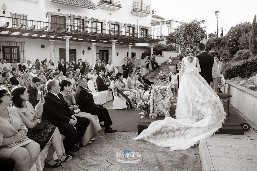 Vestido de novia en ceremonia